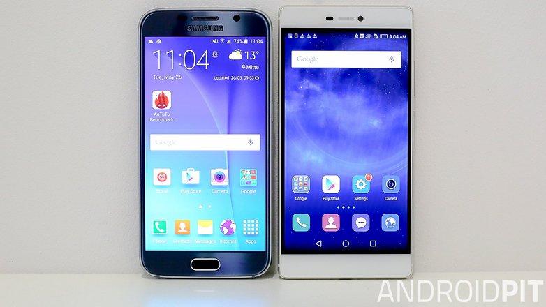 samsung s6 vs Huawei p8