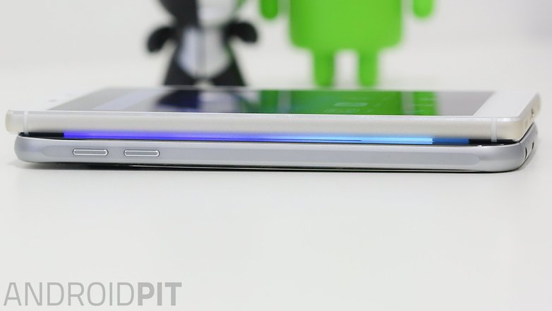 samsung s6 vs Huawei p8 left side view