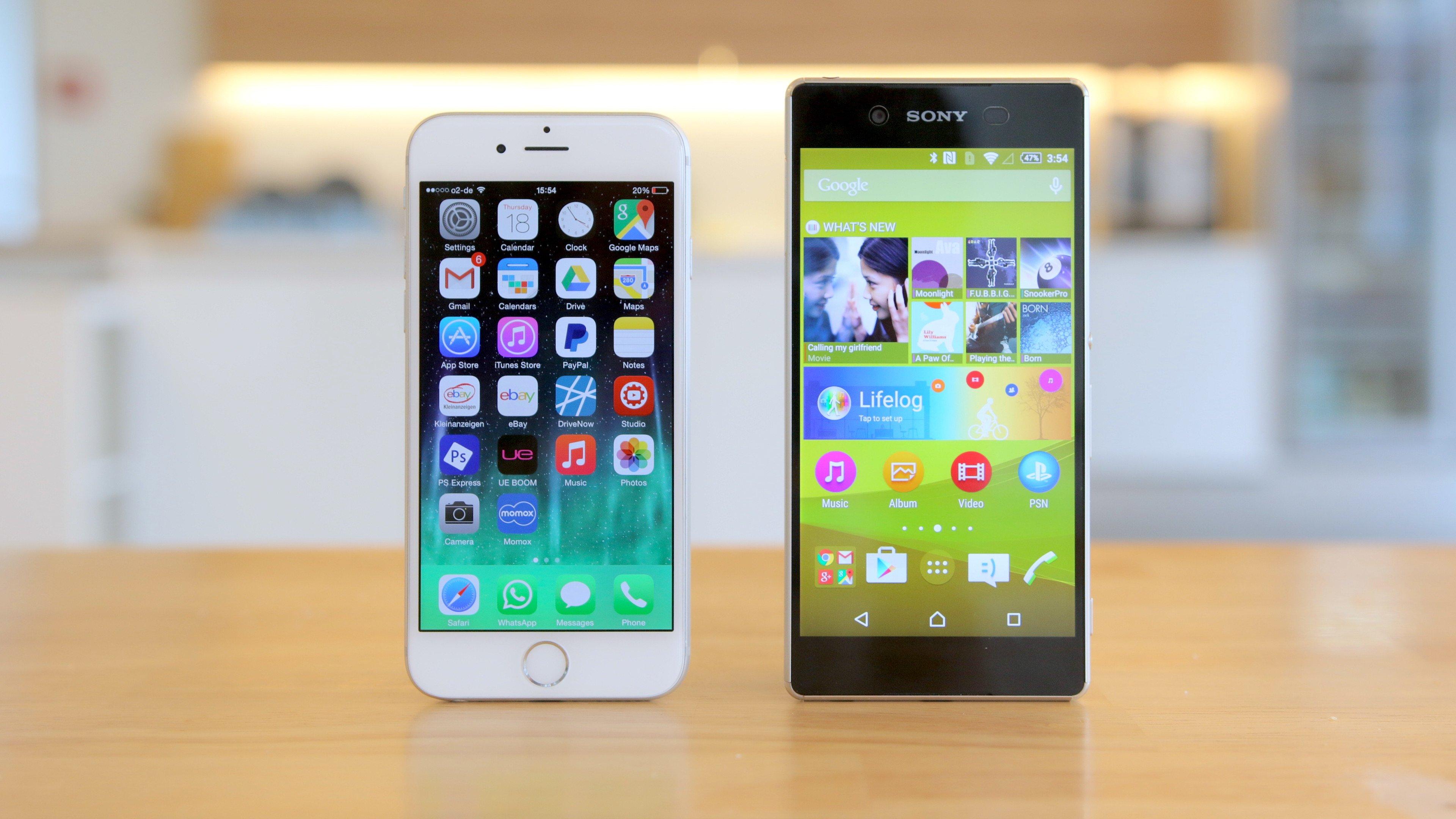 Sony Xperia Z3+ vs. iPhone 6: comparativo dos belos ...