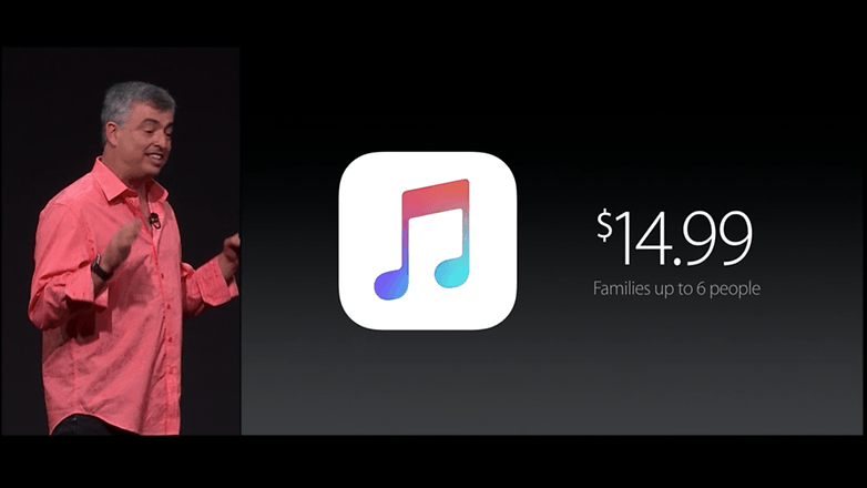 wwdc 15 apple music price familie