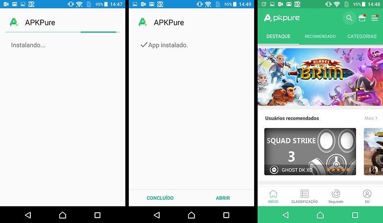 Como atualizar aplicativos e jogos que voc baixou fora da play apkpure androidpit captura de tela stopboris Gallery