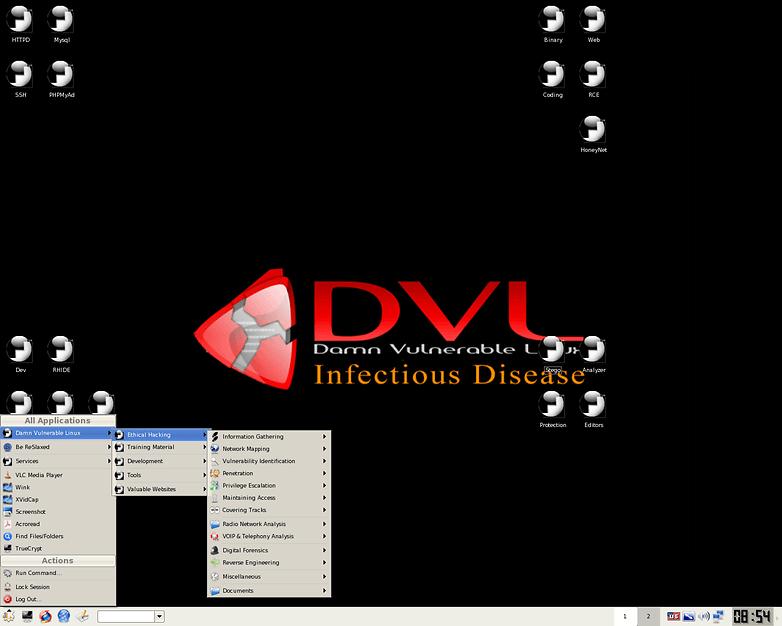 Damn Vulnerable Linux