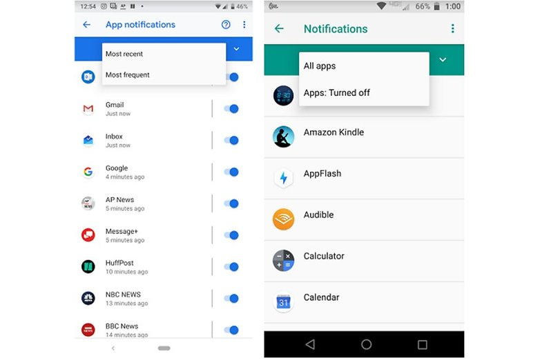 notificacoes Android 9 Pie