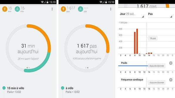 application santé android