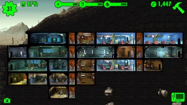 Fallout Shelter refugio