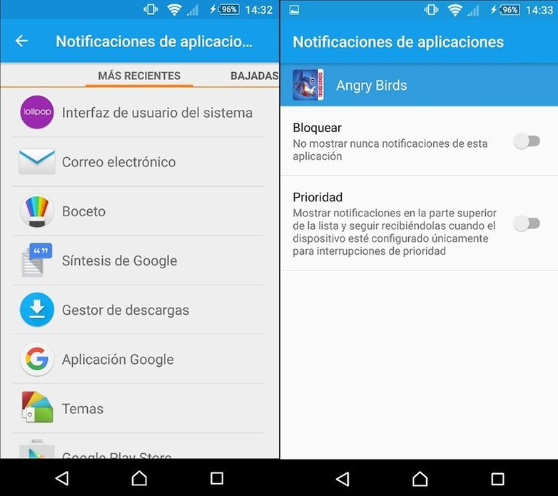 Notificaciones apps