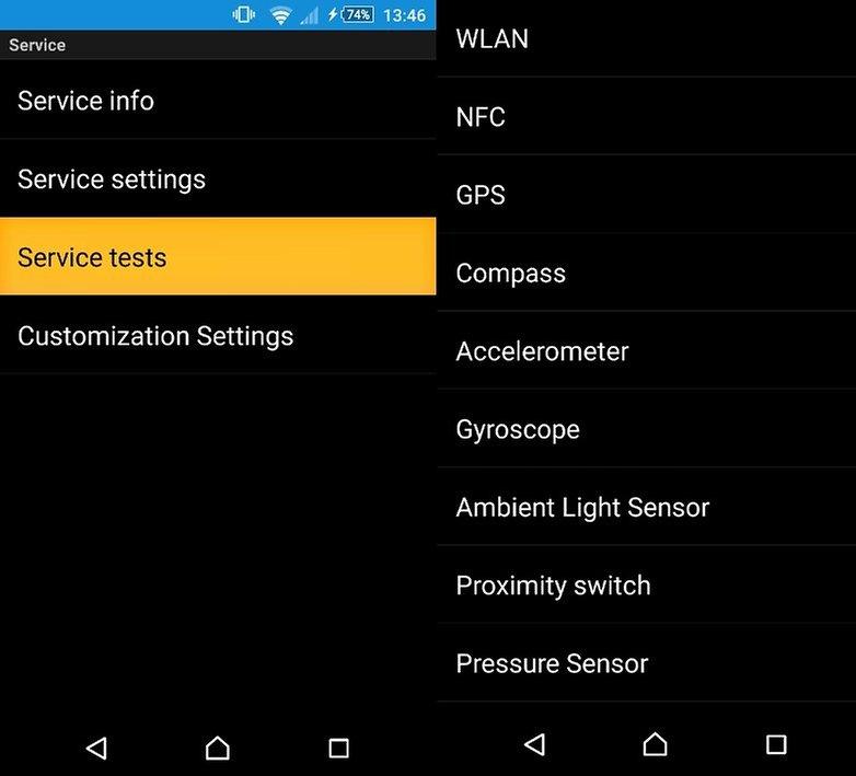 Aplikace Sensors test a kalibace kompasu Secret-number-w782