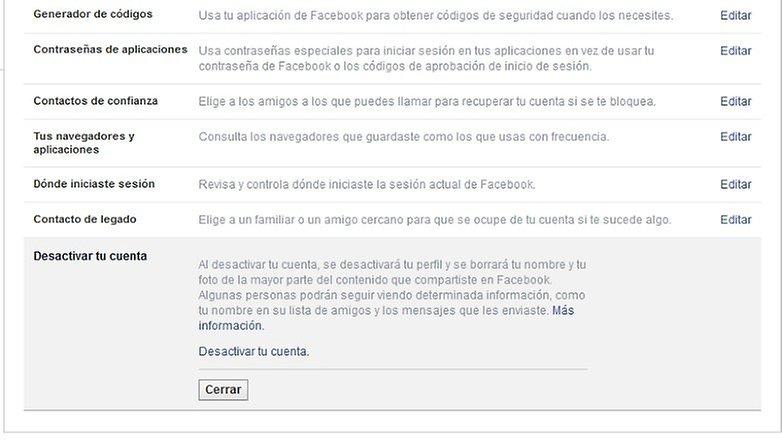 contacto legado web facebook