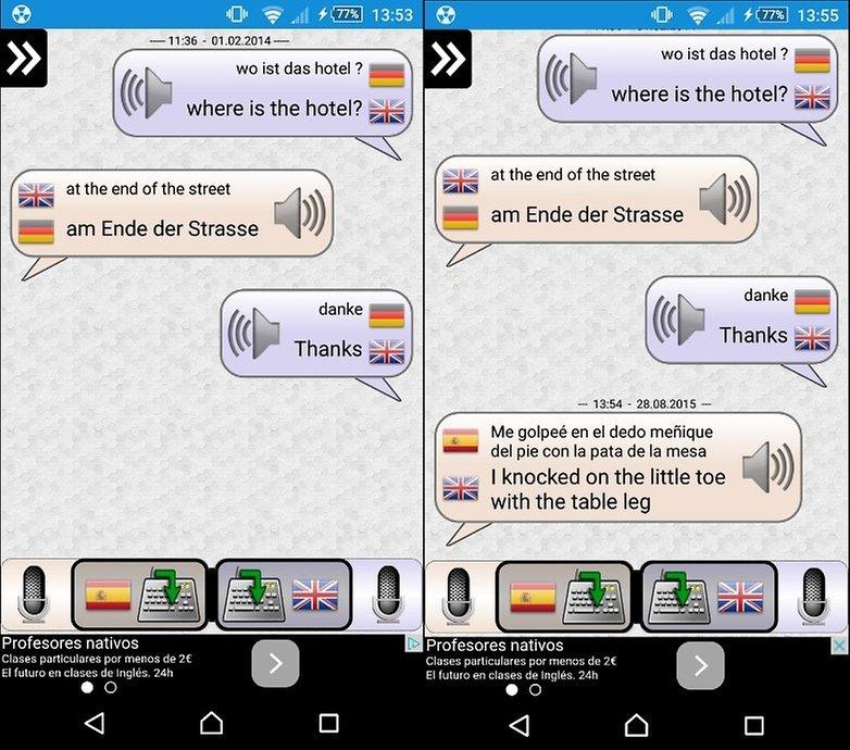conversacion traductor