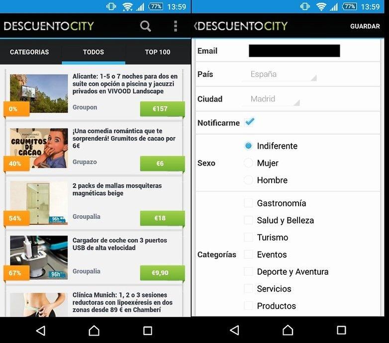 descuento city app
