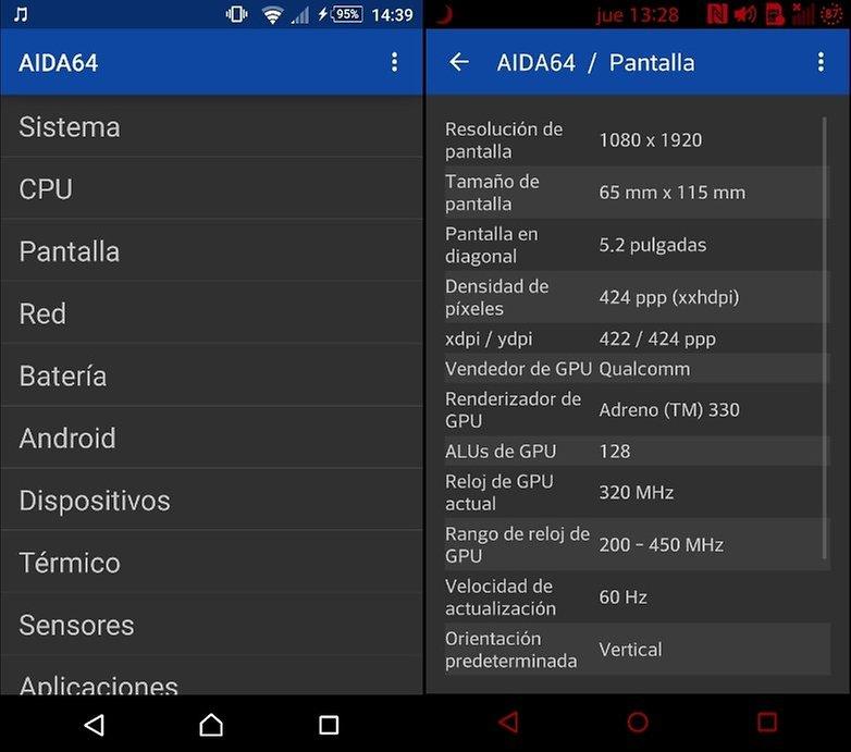 interfaz AIDA64 lg g2
