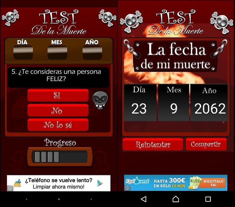 test muerte