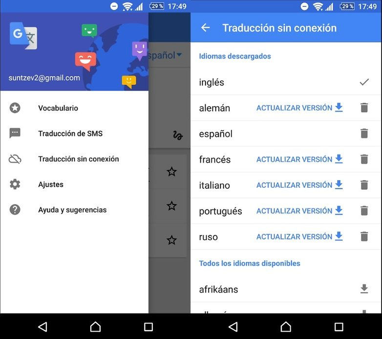 traductor google offline