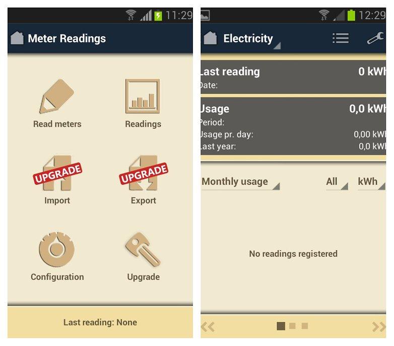 meter readings