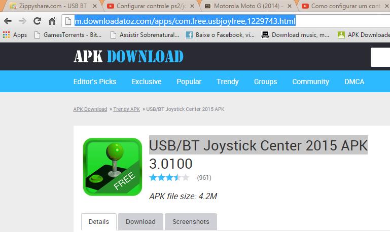 usb/bt joystick center apk free