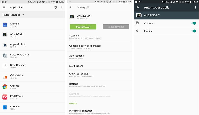 androidpit FR autorisations applications