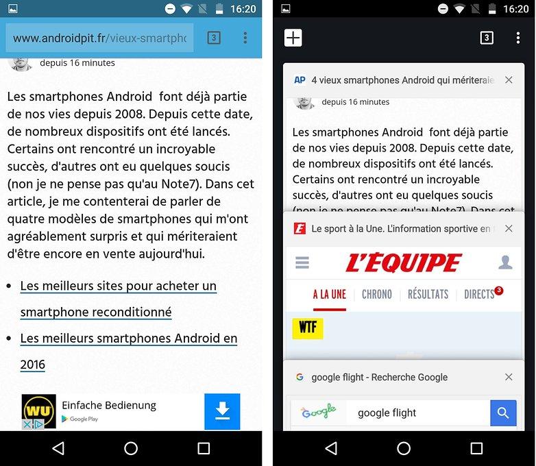 androidpit FR chrome onglets