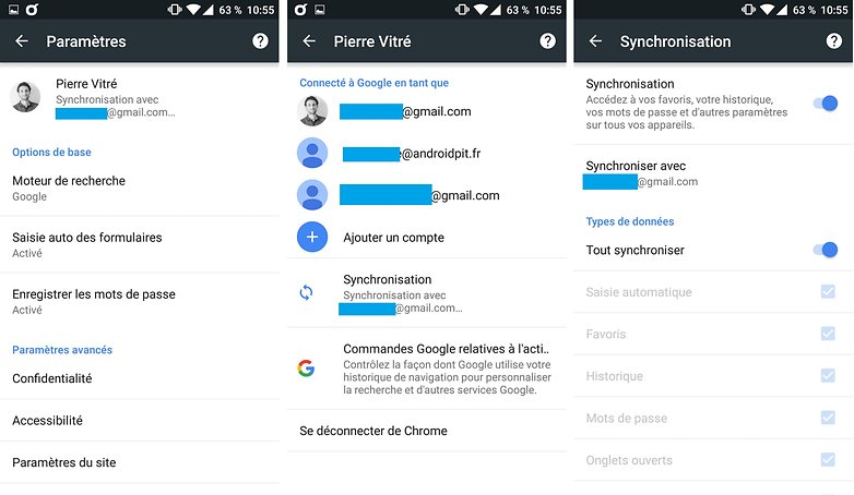 androidpit FR chrome synchronisation