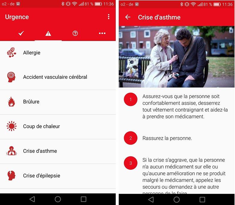 androidpit FR croix rouge urgencejpg