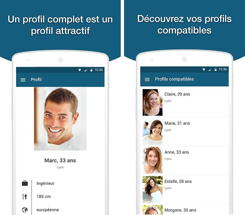 Applications rencontres android
