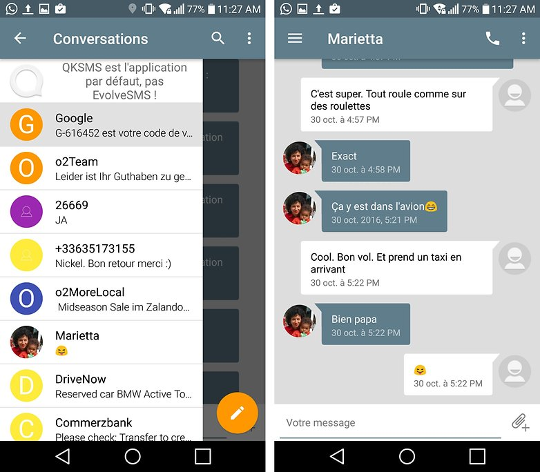 androidpit FR evolve sms