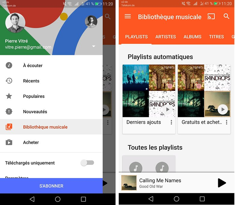 androidpit FR google play music