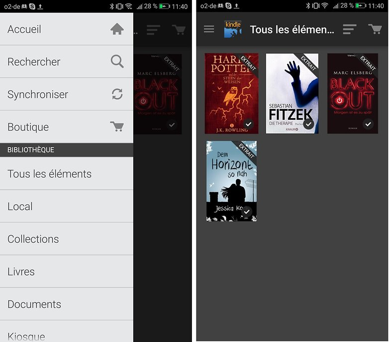 androidpit FR kindle app