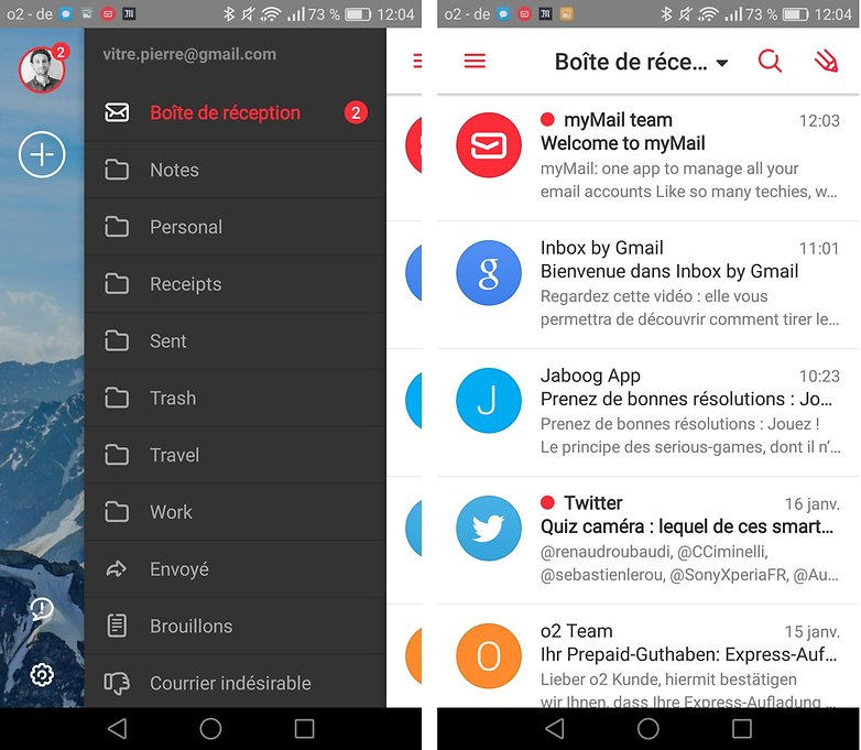 androidpit FR mymail