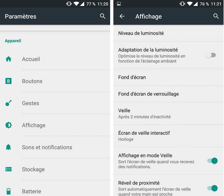 androidpit FR reglage luminosite