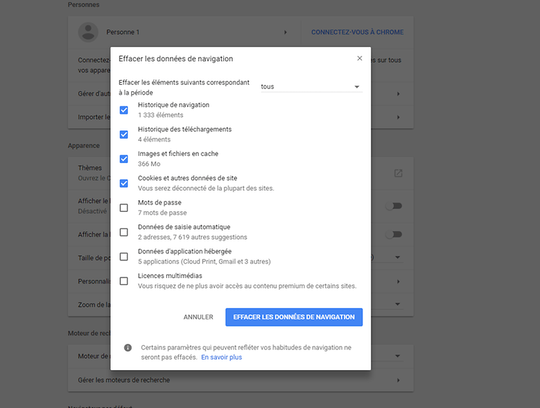 androidpit FR supprimer historique pc