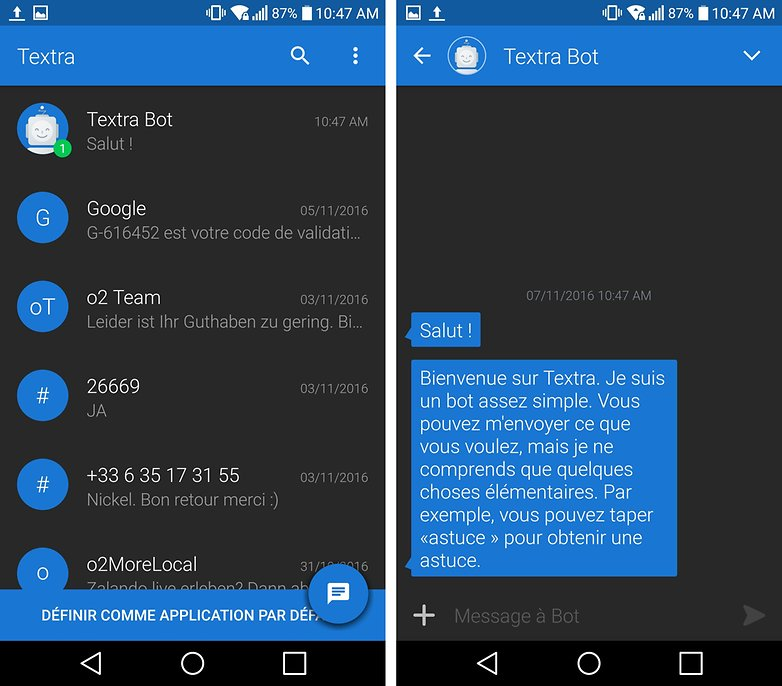 androidpit FR textra sms