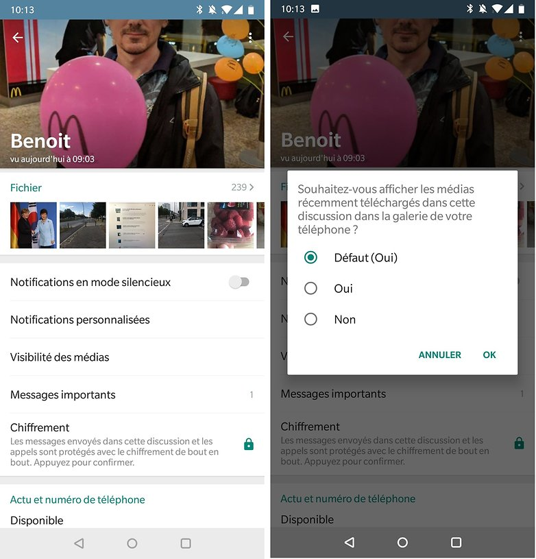 androidpit FR whatsapp cacher photos