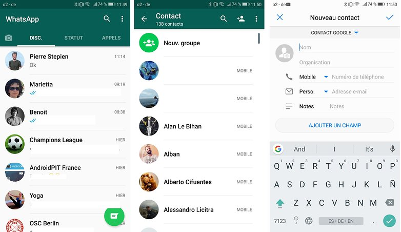 androidpit FR whatsapp contacts