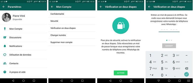 androidpit FR whatsapp deux etapes