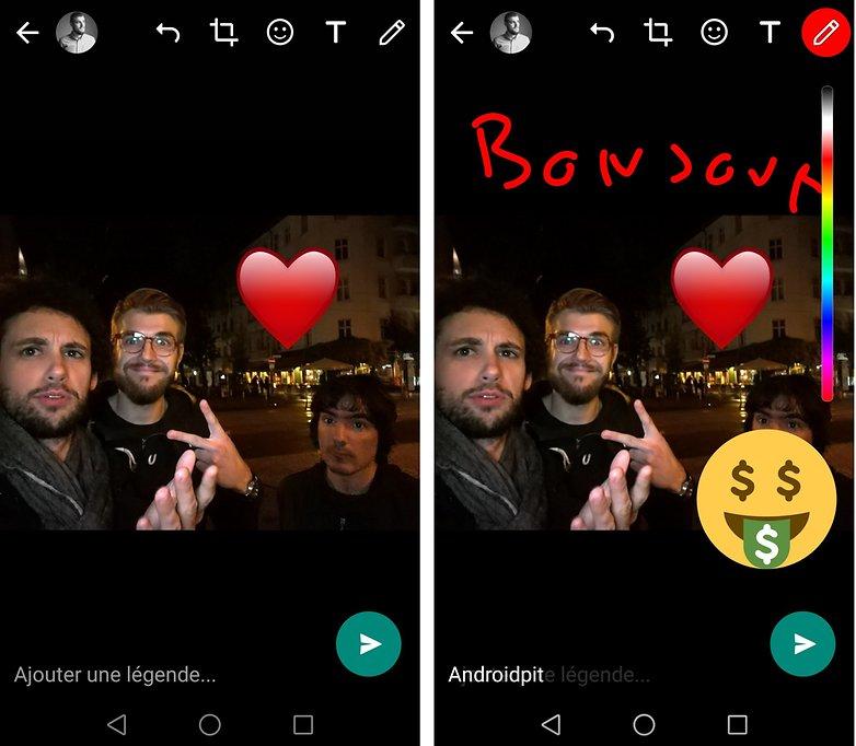 androidpit FR whatsapp snapchat