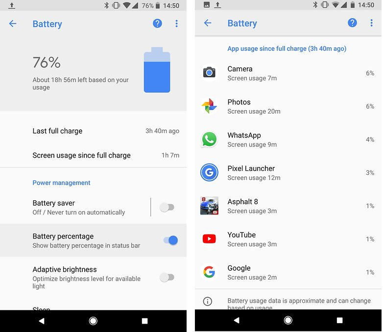 androidpit battery pixel 2