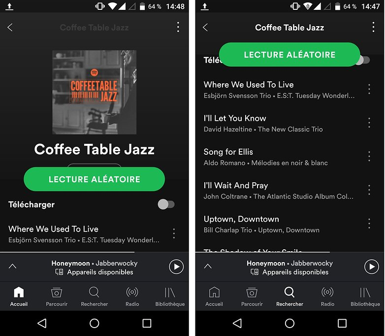 androidpit coffee table jazz spotify