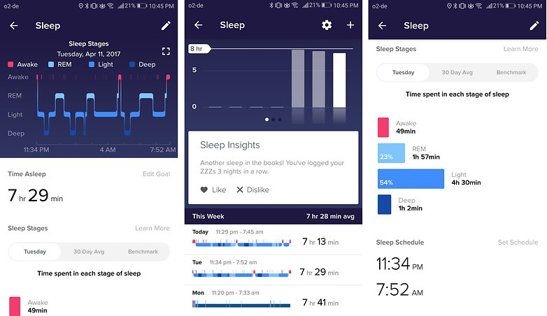 androidpit fitbit alta app track