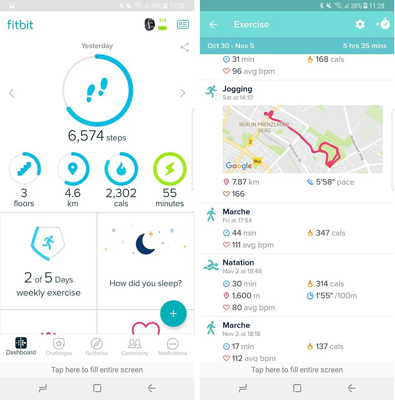 androidpit fitbit app