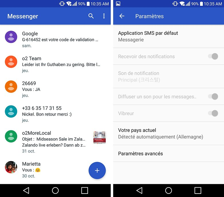 androidpit google messenger FR