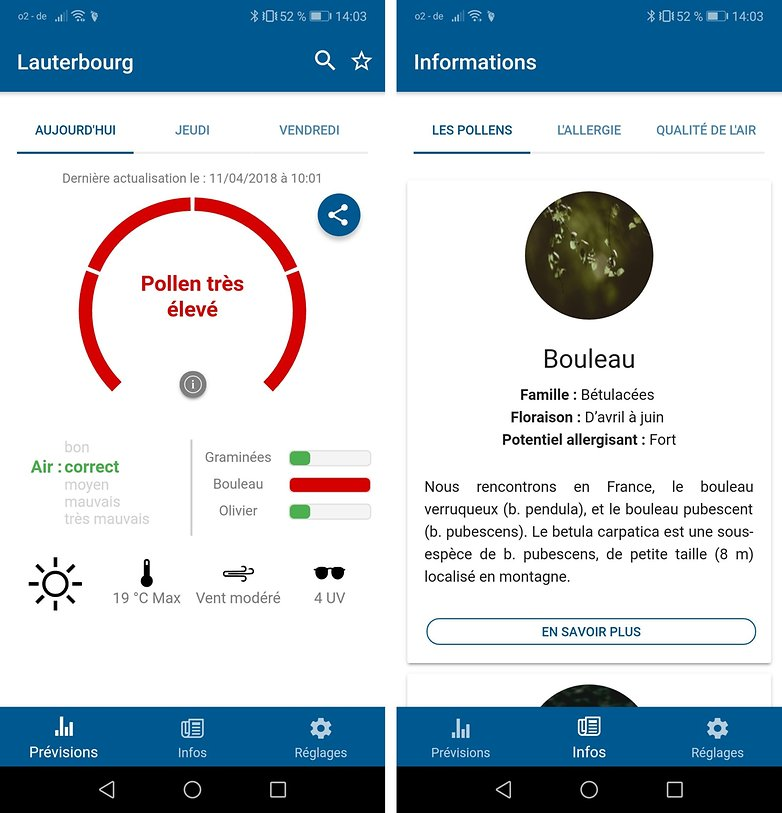 androidpit meteo pollen