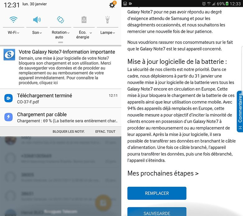 androidpit mise a jour galaxy note 7