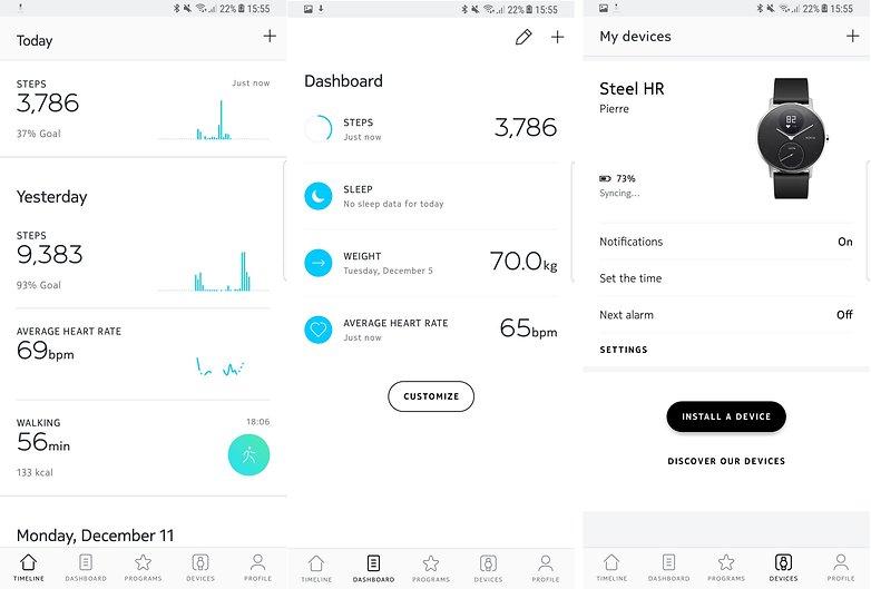 androidpit nokia steel hr app
