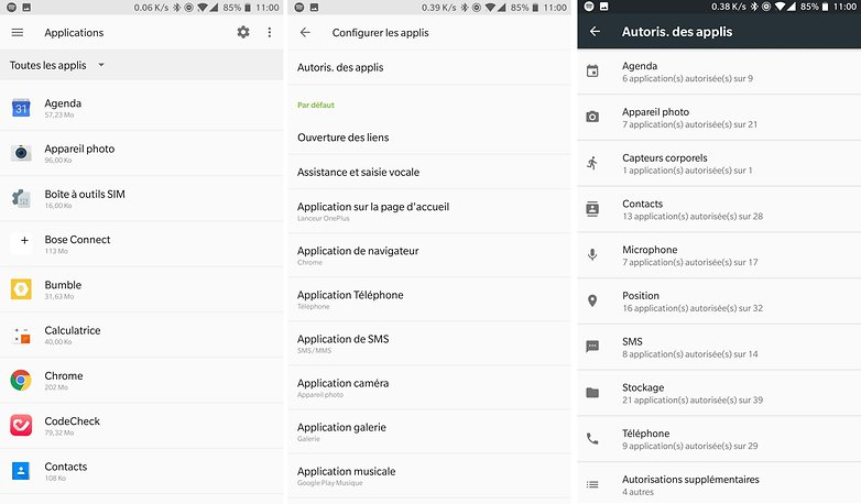 androidpit oneplus 5 applis localisation