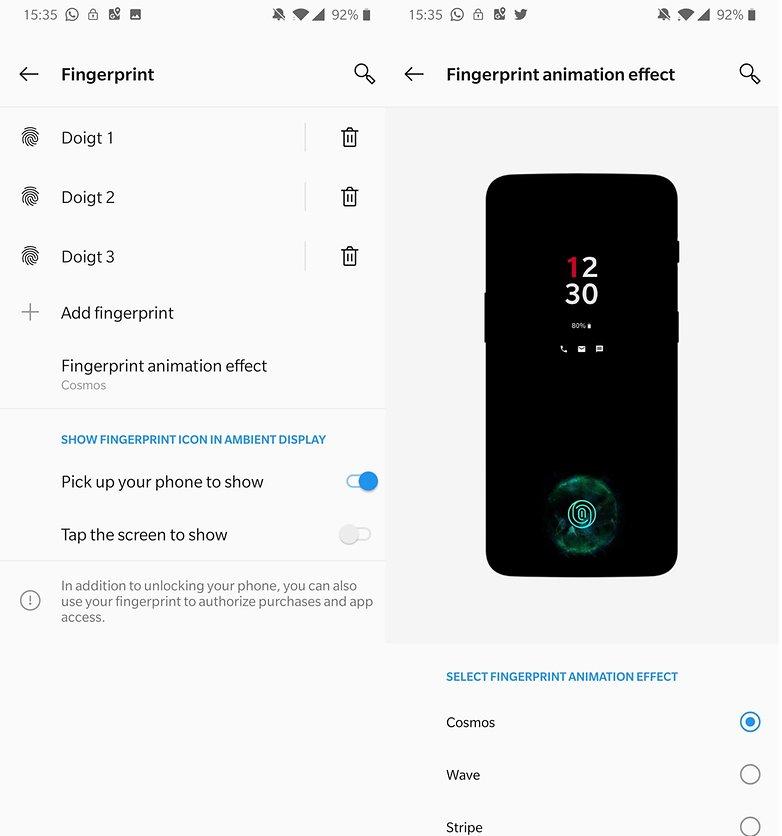 androidpit oneplus 6t fingerprint