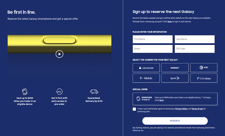 androidpit samsung preorder note9