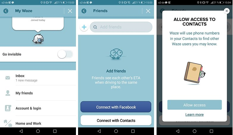 androidpit waze contacts
