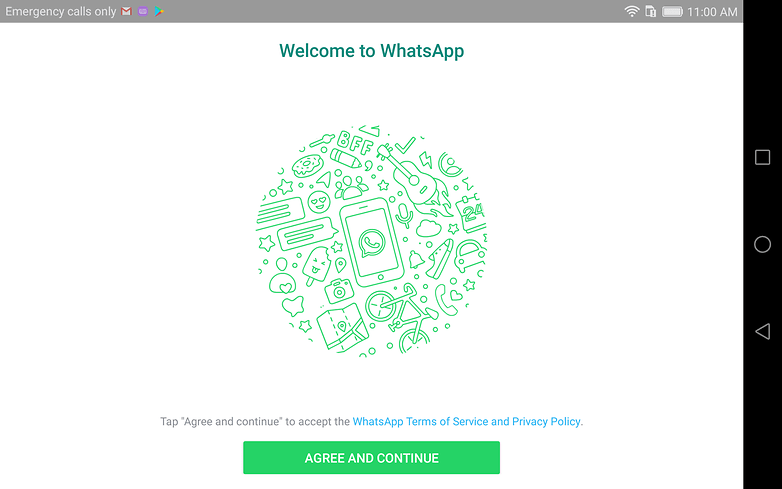 androidpit whatsapp tablette accueil