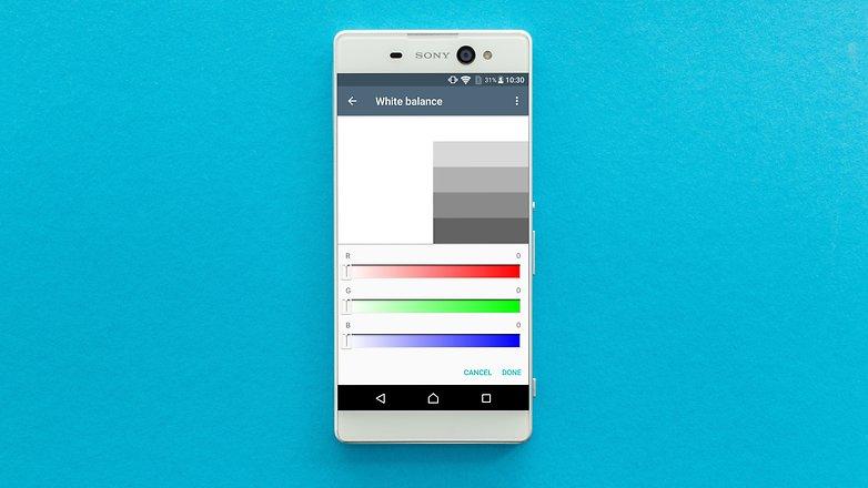 androidpit xa ultra white balance