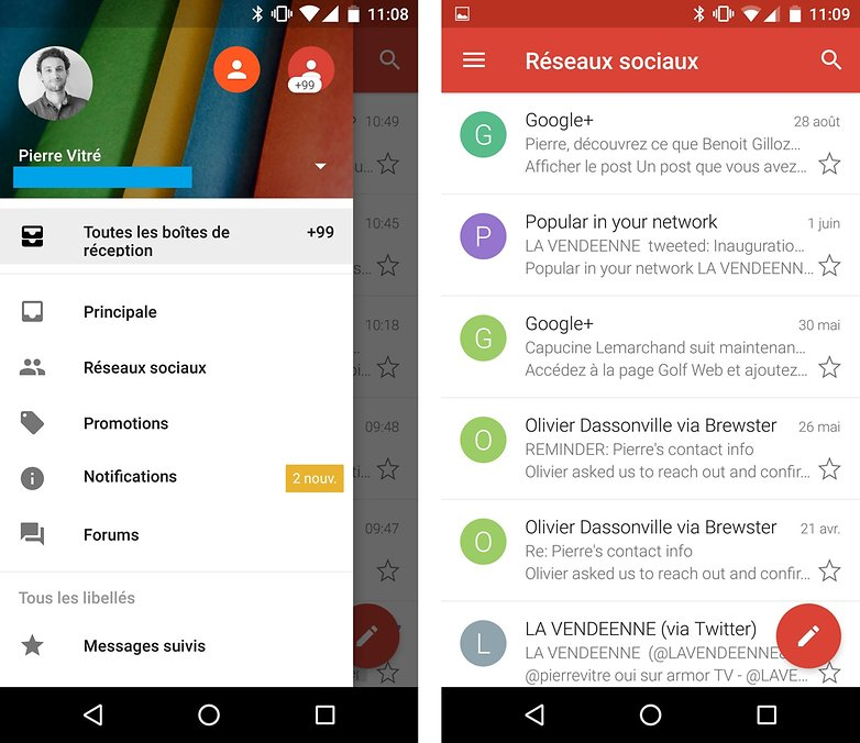 gmail android french